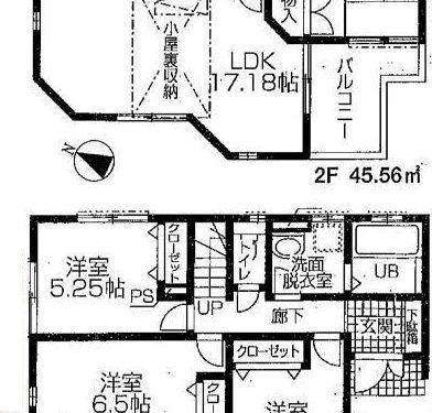 敷地156.8㎡ 建物92.13㎡(間取)