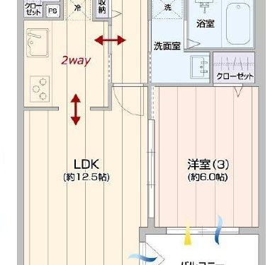 3LDK、専有面積66.11㎡、専用庭7.60㎡