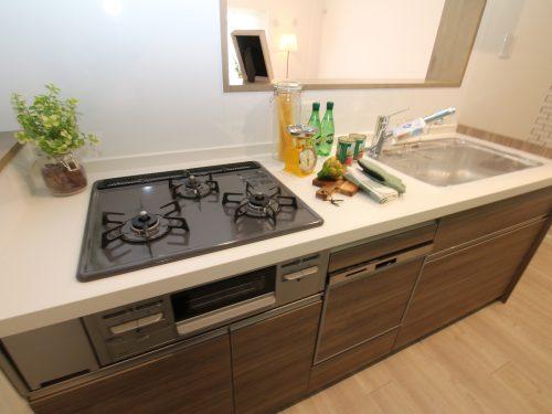 キッチンは新規交換済み!食洗器、浄水器設置で設備も充実!(キッチン)
