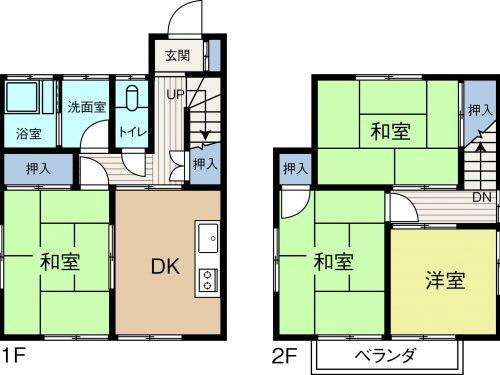 土地92.44㎡、建物69.55㎡(間取)